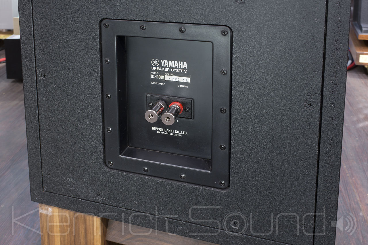 Yamaha ns 1000m speakers in polished oxblood color for Yamaha sound dock