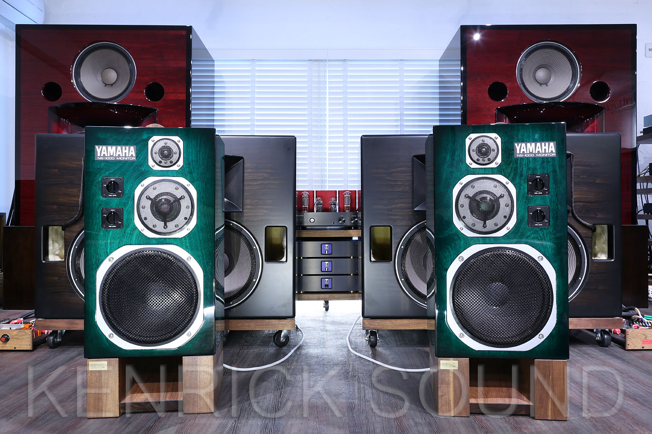 YAMAHA NS-1000M speakers Polished Viridian Sunburst refurbished by ...
